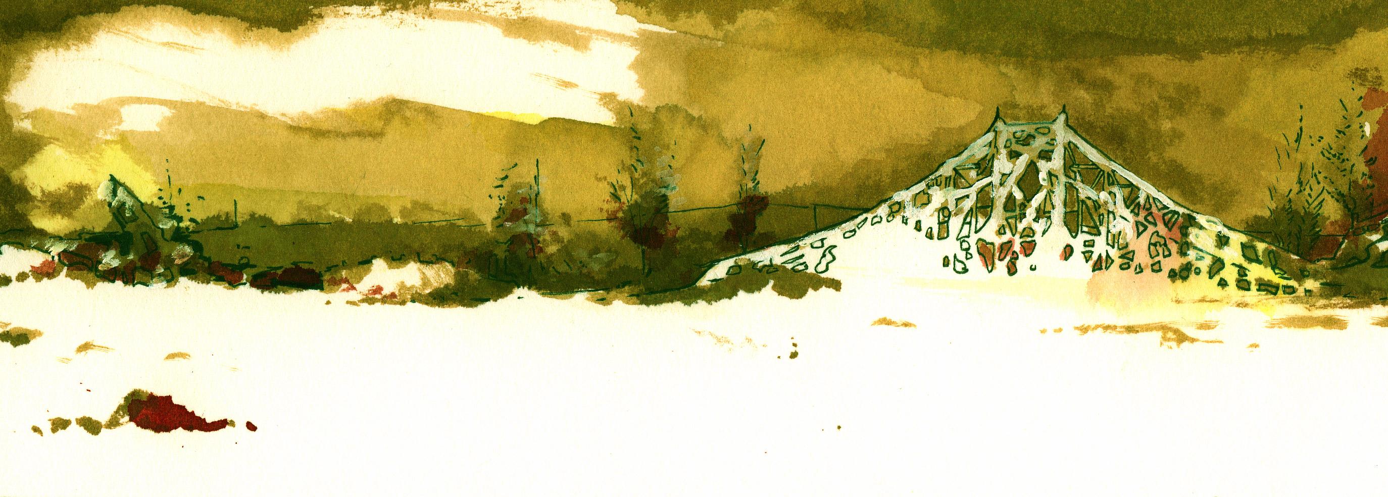 Nos hivers. Aquarelle. 2004