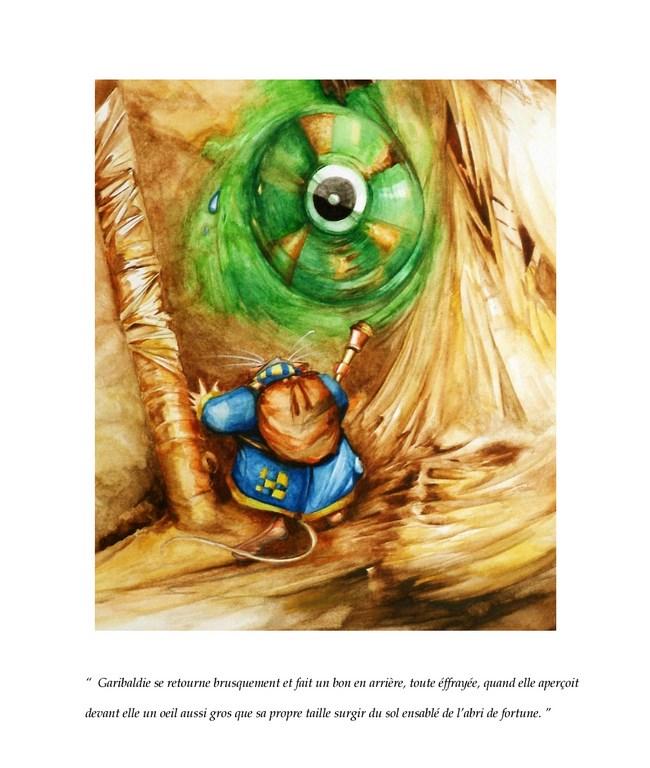 Illustration autour du conte Garibaldie au Royaume des plaines dorées. Fabien Dreuil. Éditions Persée. 2010