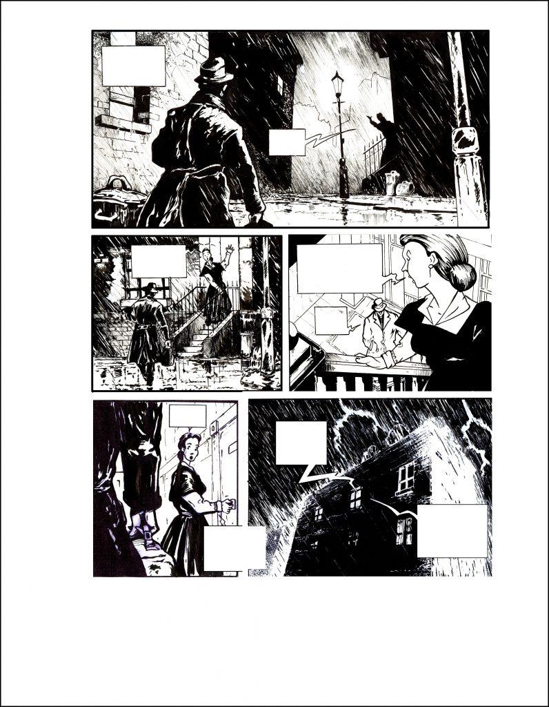 Planches BD pour le cheval Pâle d'Agatha Christie. 2008