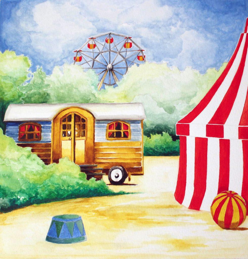 Décors du Fabuleux Cirque Jean Coutu