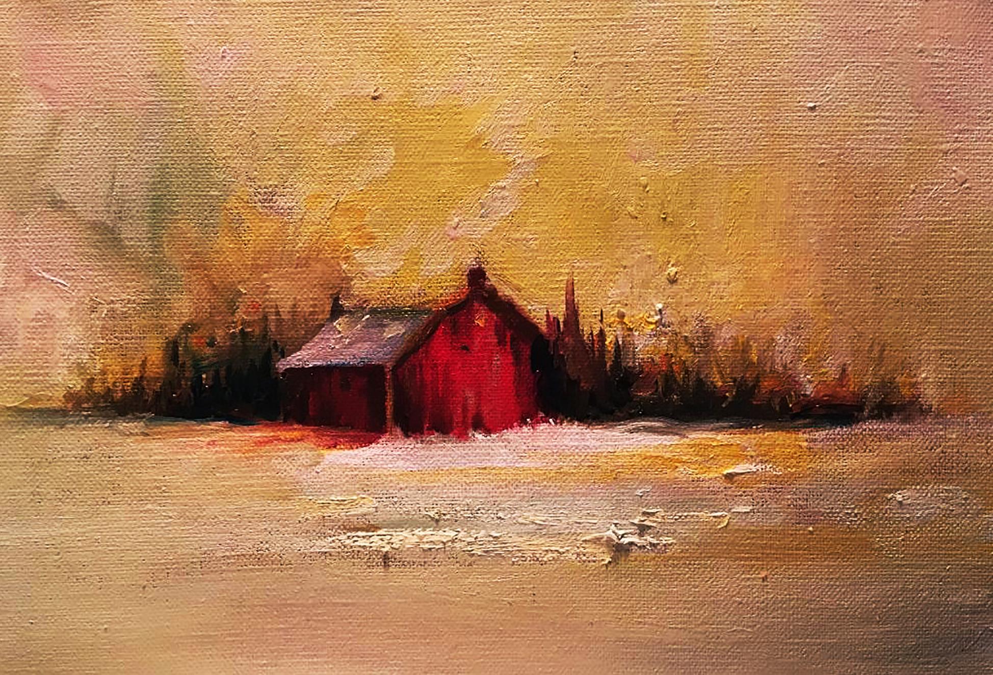 La grange au coucher de soleil (2018)